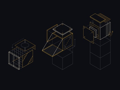 Building Blocks blueprint blocks construction wires illustration vector