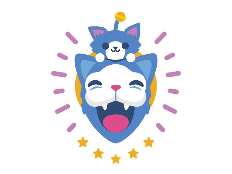 Kitty kitty cat illustration vector