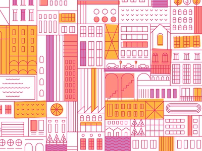 WIP lines city illustration vector