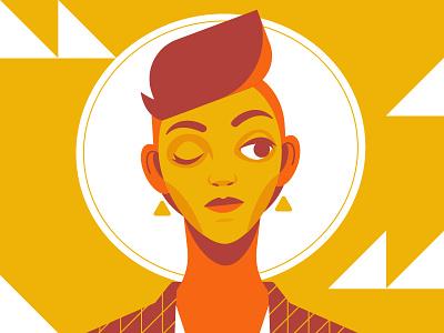 Face fashion woman face portrait illustration vector