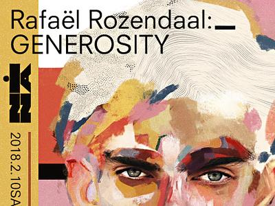 Rafael poster illustration collage face portrait art
