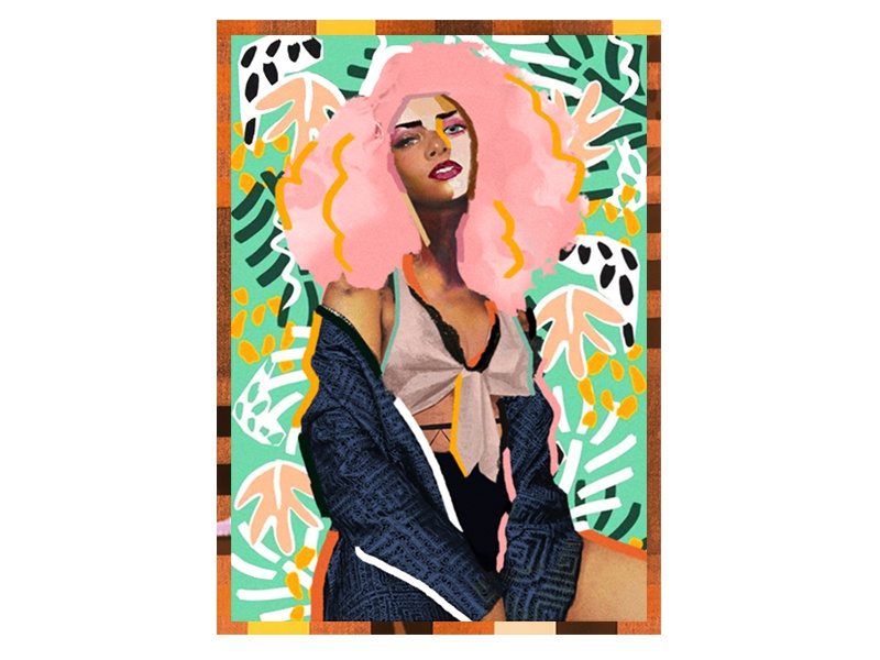 Bambi character vector poster portrait art illustration collage