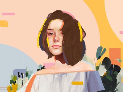 Ally design poster identity portrait art collage illustration vector