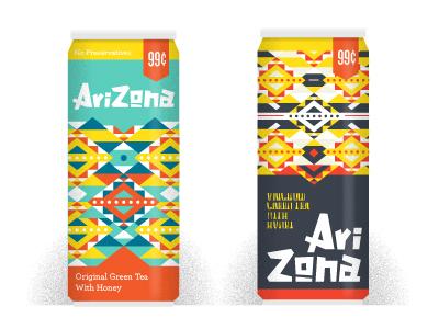 Arizona Can Study vector illustration arizona tea cans logo branding packaging
