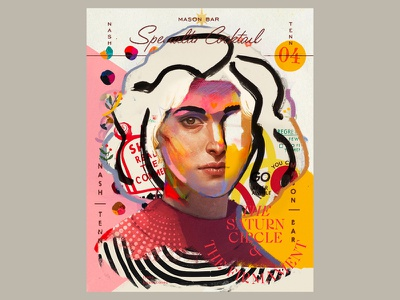 Mandy design poster portrait art collage illustration vector