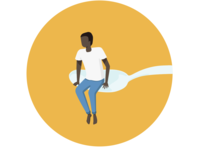 [Graphic] Man, Spoon