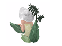 [Graphic] Green, Tropical, Girl