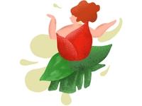 [Graphic] Flower, Spring, girl