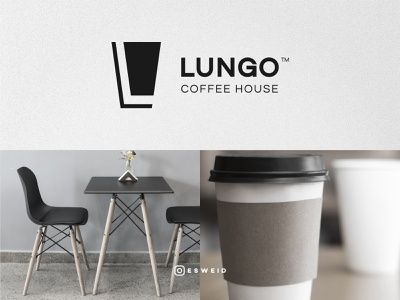 Coffee cup, Chair, Letter L letter l coffee house chair coffee instagram illustration vector flat logo graphicdesign design