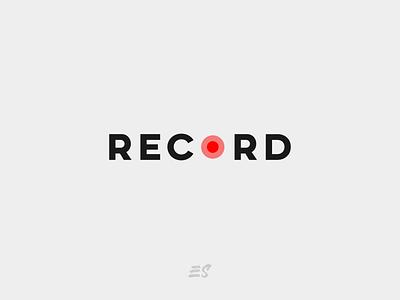 RECORD wordmark ui like minimal instagram stories instagram post instagram icon vector typography logo flat illustration graphicdesign design