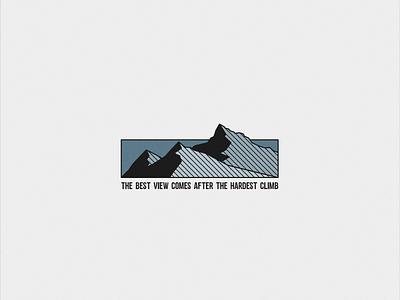 THE CLIMB wordmark minimal instagram stories like climb mountain quote motivation instagram post instagram icon vector typography logo illustration flat graphicdesign design