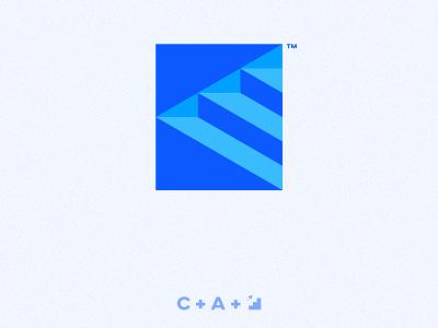 C A Escalator / Logo letter a letter c logo design up blue wordmark minimal like instagram illustration vector flat graphicdesign design logotype logo escalator