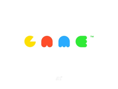 Game Packman wordmark game art blue green red yellow colorful color video games illustration vector logo flat graphicdesign design games packman game