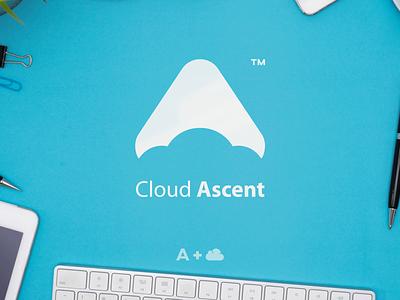 Cloud Ascent - Logo - Letter A online website webs app mockup blue like instagram illustration flat vector graphicdesign design lettering letter a logo lettermark