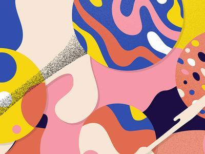 I Party colors shapes freeform illustration illustrator