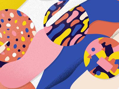 Pass Me the Mic colors shapes freeform illustration illustrator