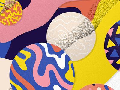 Give Pizza Chance colors shapes freeform illustration illustrator