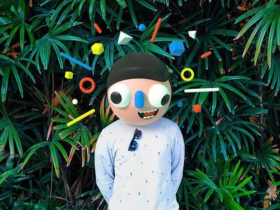 Self Portrait colorful 3d portrait c4d octane cinema 4d character