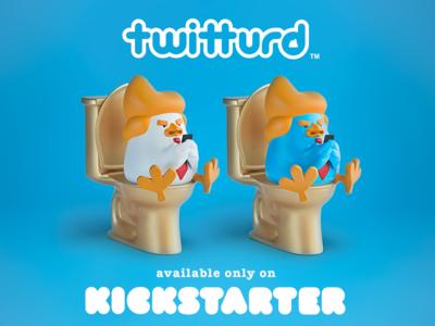Twitturd vinyl toy trump toy kickstarter design cinema 4d character