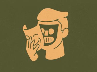 Masks bots robot drawing design illustration