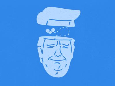 Shithead usa impeachment shit trump character design illustration