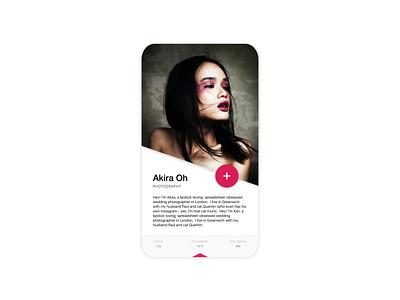App profile branding fashion ui trand minimal design