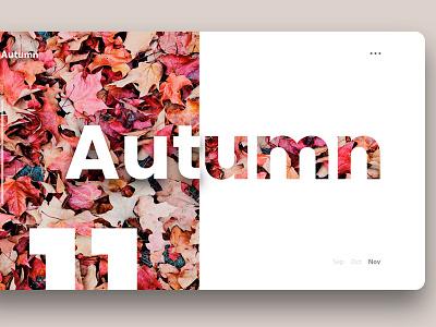 Autumn poster minimal website trand web app branding ux ui design