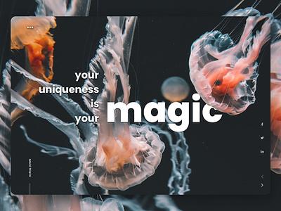 magic minimal uidesign fashion trand web website ui ux design