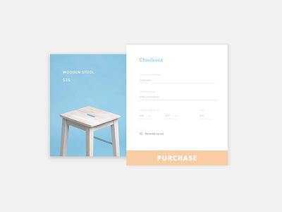 Wooden stool purchase screen webdesign ux fashion uidesign website web trand ui minimal design
