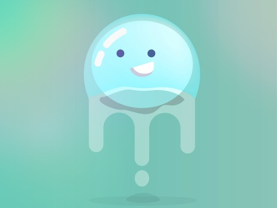 Drops drops ball happy water vector illustration