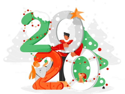 newyear2020 2d light star mouse snow happy character color flat vector characterdesign newyearillustration children countdownto2020 festivemood decorations christmastree newyearseve 2020 newyear