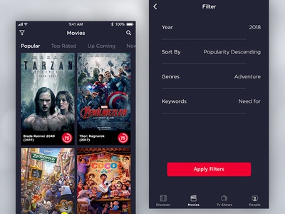 Movie App - Filter Page
