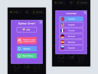 Game UI- Game Over and Language