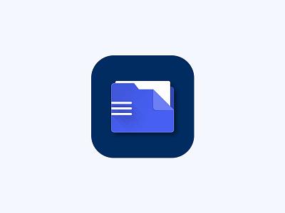 File Manager App Icon ipad iphone folder material box drive cloud dowloads music document file ios