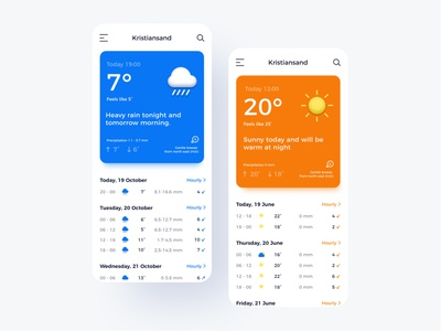 Daily UI Day 37 - Weather ui design dailyui