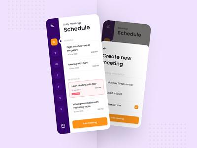 Daily UI Day 71 - Schedule daily ui challenge dailyuichallenge ui design dailyui
