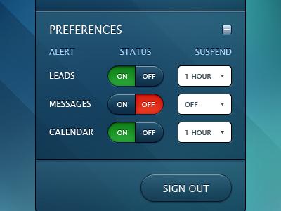 Connect App - Preferences Panel