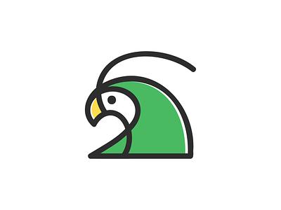 Parrot! bird talk languages nest parrots for sale monoline wings eagle parrot monochrome geometric logodesign logo design symbol branding brand icon mark logo
