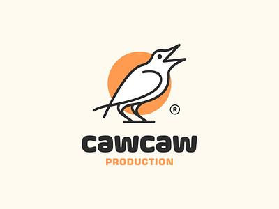 CawCaw! dove eagle nest production for sale unused wings caw crow bird monochrome illustration logodesign logo design symbol branding brand icon mark logo