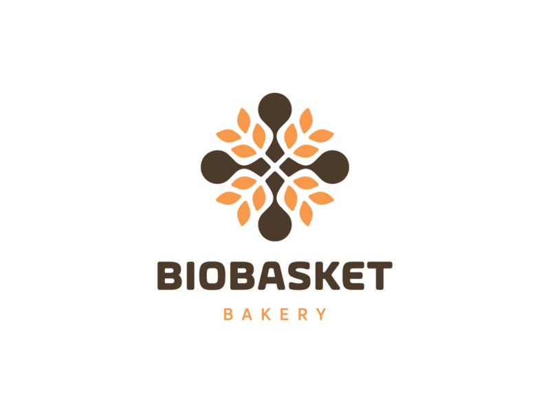 BIOBASKET BAKERY! unused for sale food bread farming farm rose bio wheat bakery abstract geometric logodesign logo design symbol branding brand icon mark logo