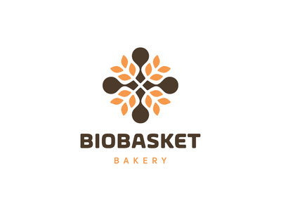 BIOBASKET BAKERY! unused for sale food bread farming farm rose bio wheat bakery abstract geometric logodesign logo design symbol branding brand icon mark logo