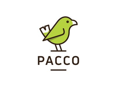 PACCO! animal hummingbird cute monochrome stroke monoline tweet dove nest wings bird illustration logodesign logo design symbol branding brand icon mark logo