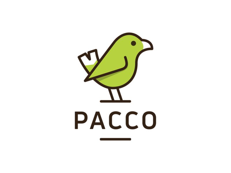 PACCO! animal hummingbird cute monochrome stroke monoline tweet dove nest wings bird illustration logodesign logo design symbol branding brand icon mark logo