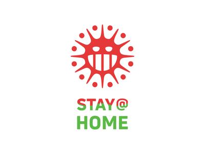 STAY AT HOME! stayathome health stayhome coronavirus corona virus geometric logodesign logo design symbol branding brand icon mark logo