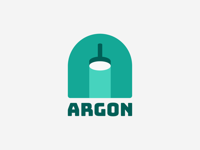 A for Argon! lamp light neon argon 36daysoftype type a letter lettermark monogram for sale geometric logodesign logo design symbol branding brand icon mark logo