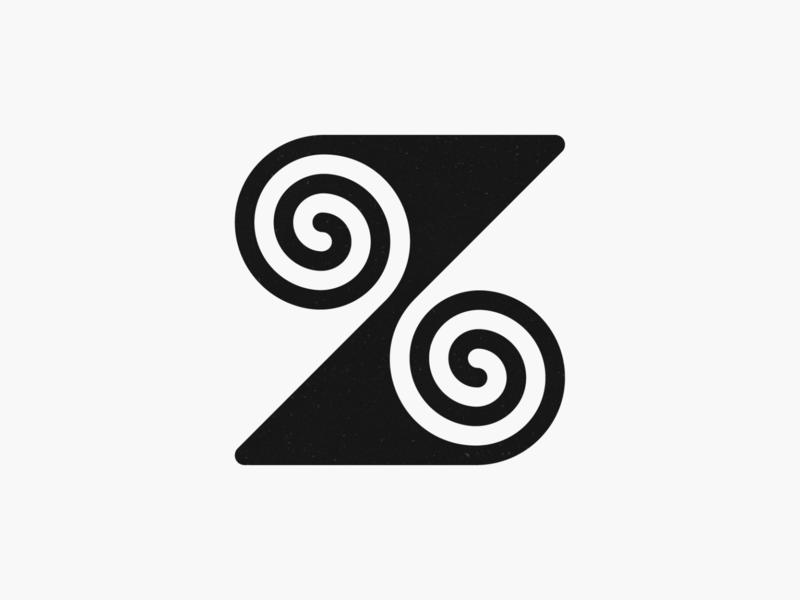Z swirls! negative space swirl lettermark 36daysoftype type z letter monogram monochrome geometric logodesign logo design symbol branding brand icon mark logo