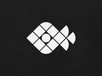 Mystic fish! eye mystic ocean aquatic aqua marine seafood sea fish monochrome abstract geometric logodesign logo design symbol branding brand icon mark logo