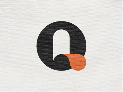 Q mark! paper lettermark o logotype l type monogram q letter monochrome geometric logodesign logo design symbol branding brand icon mark logo
