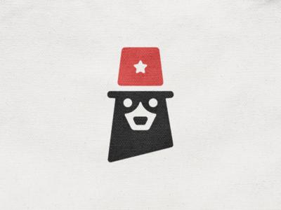 Bear! negative space police mascot animal cow star hat dog bear monochrome abstract geometric logodesign logo design symbol branding brand icon mark logo
