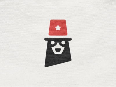 Bear! negative space police mascot animal cow star hat dog bear monochrome abstract geometric logodesign logo design symbol branding brand icon mark logo